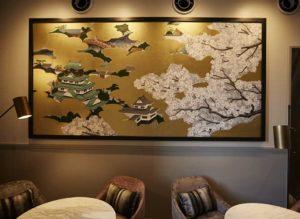 貴賓室の壁